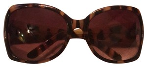Simply Vera Vera Wang cheetah print large frame glasses