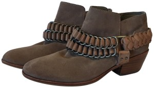Sam Edelman Ankle Suede Brown Tan Boots