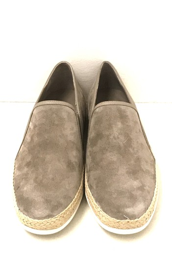 Vince Acker Suede Slip On Espadrille Taupe Flats