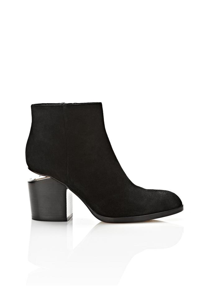 Alexander Wang / Black Gray Suede Ankle / Wang Boots/Booties 6487bd