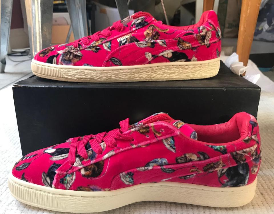 7818ce2a85bb Puma Pink Velvet House Of Hackney X Basket Classic