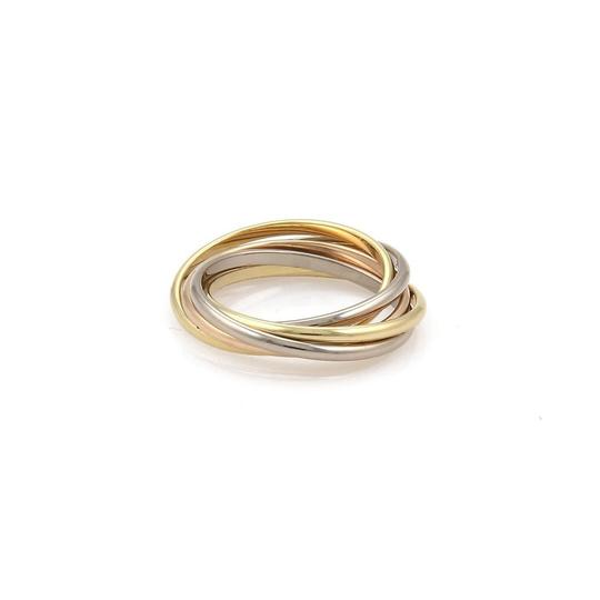 Cartier Trinity 18k Gold 1.5mm 5 Rolling Band Ring Size 50-US 5 w/Cert