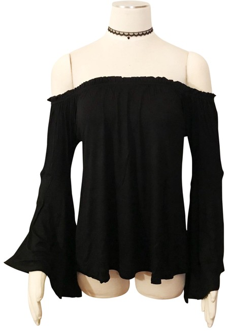 Preload https://img-static.tradesy.com/item/23103889/off-shoulder-bohemian-black-gypsy-hippie-retro-flared-sleeves-blouse-size-12-l-0-1-650-650.jpg