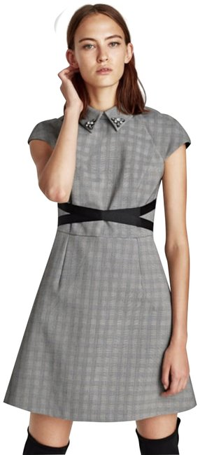 Preload https://img-static.tradesy.com/item/23103906/zara-grey-checked-jeweled-collar-short-casual-dress-size-12-l-0-1-650-650.jpg
