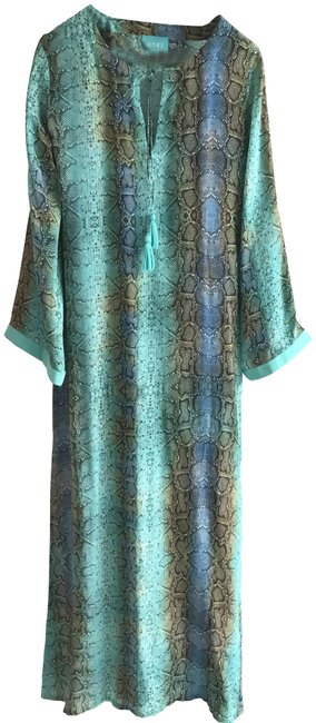 Preload https://img-static.tradesy.com/item/23104010/taj-by-sabrina-crippa-turquoise-blue-gold-long-casual-maxi-dress-size-4-s-0-2-650-650.jpg