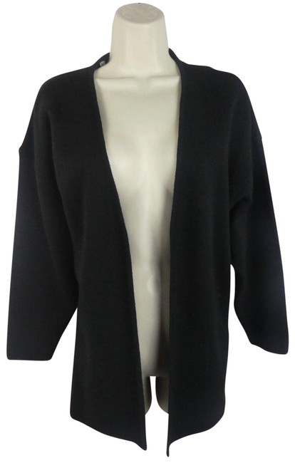 Preload https://img-static.tradesy.com/item/23104134/black-m-cardigan-sweater-knit-made-in-italy-blouse-size-10-m-0-1-650-650.jpg