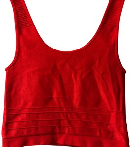 bebe Crop Bodycon Date Bright Top Red - item med img