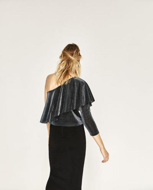 Zara Top Sparkling Blue