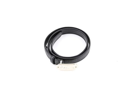 Gucci Gucci Sima Line Leather Belt Black