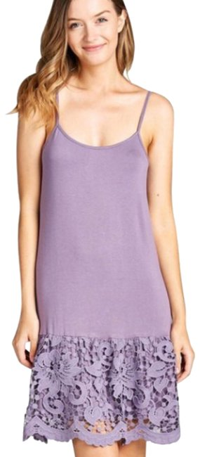 Preload https://img-static.tradesy.com/item/23104279/purple-lace-extender-plus-crochet-tunic-tank-top-slip-short-casual-dress-size-10-m-0-3-650-650.jpg