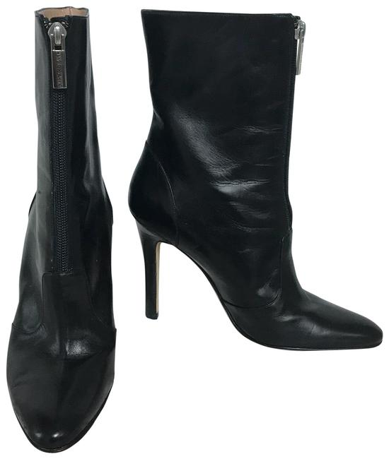 Item - Black Leather Mid-calf Boots/Booties Size EU 37.5 (Approx. US 7.5) Regular (M, B)