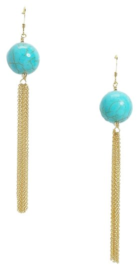Susan Hanover Stone Tassel Drop Earrings