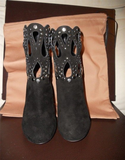ALAA Studded Cutout Black Boots
