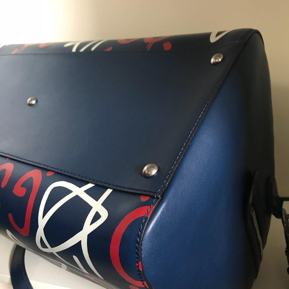 8ff16f19cdc9 Gucci Ghost Duffel Monogram navy Travel Bag Image 11. 123456789101112