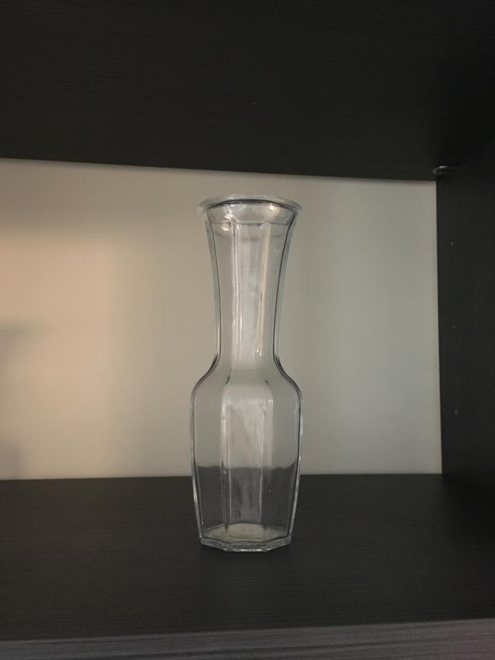 Anthropologie Clear Modern Crystal Vase Decoration Tradesy