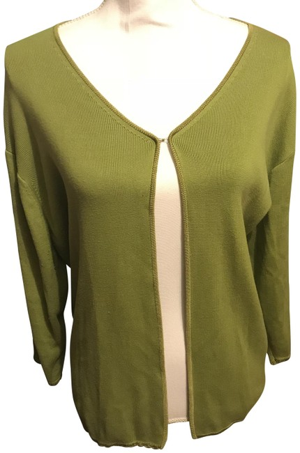 Preload https://img-static.tradesy.com/item/23104479/green-sweater-34-sleeves-cardigan-size-26-plus-3x-0-1-650-650.jpg