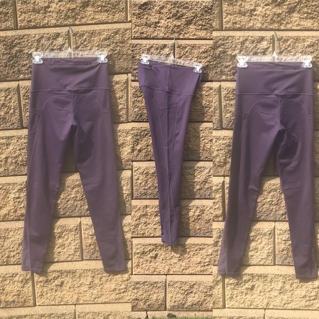 Mono B M Purple Mesh Yoga Pants with Pockets High Waist NOT SEE THROUGH