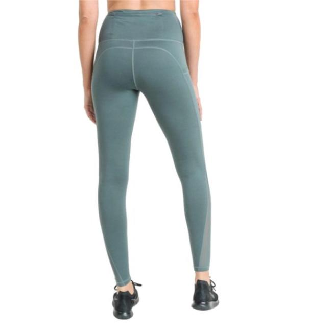 dalia + jade M Light Teal Mesh Yoga Pants with Pockets High Waist NOT SEE THROUGH