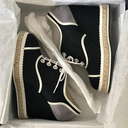 Chanel navy Wedges