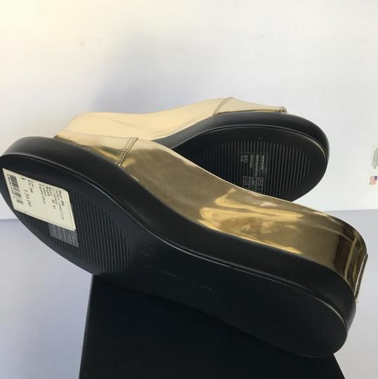 French Connection Light Gold Mules