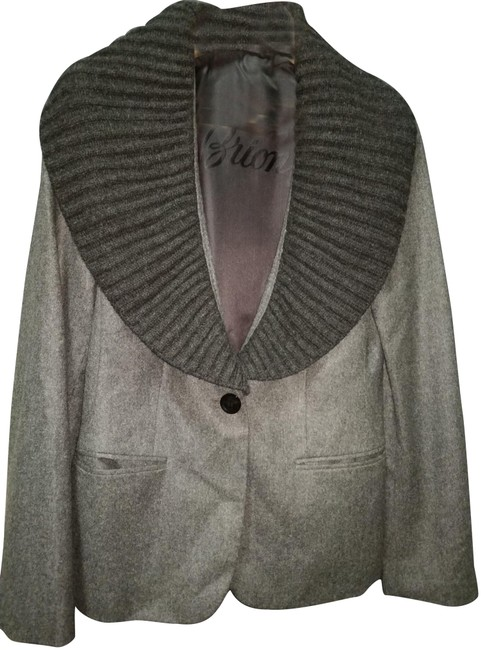 Preload https://img-static.tradesy.com/item/23104551/brioni-charcoal-grey-made-in-italy-cashmere-with-knitted-shawl-coll-jacket-size-8-m-0-1-650-650.jpg