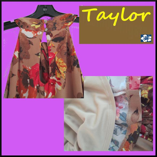 Taylor Floral Print 3-keyhole Halter Neck Knee-midi Length Sleeveless Dress