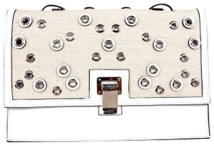 Proenza Schouler Canvas Leather Small Embellished Studded Cross Body Bag