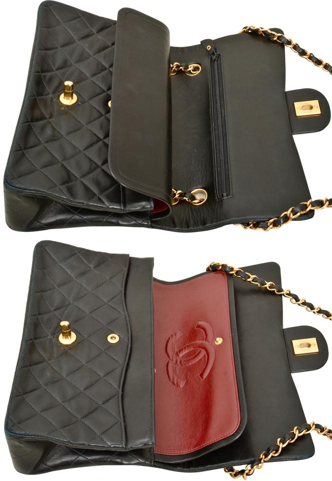 f88ab95e59cc Chanel Quilted Lambskin Double Flap Shoulder Bag Image 11. 123456789101112