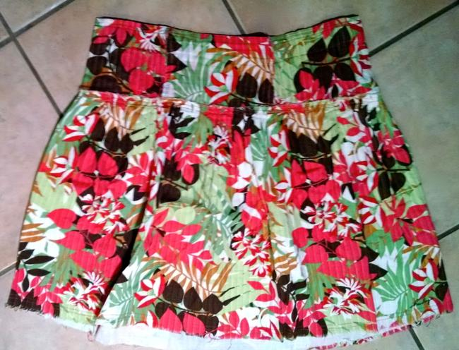 Other Hurley Size Medium Floral P1356 Skirt pink, brown,