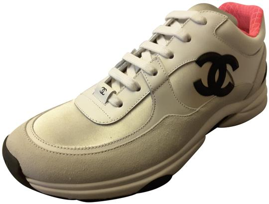 Preload https://img-static.tradesy.com/item/23104711/chanel-white-2018-trainers-leather-silver-pink-sneakers-sneakers-size-eu-42-approx-us-12-regular-m-b-0-1-540-540.jpg