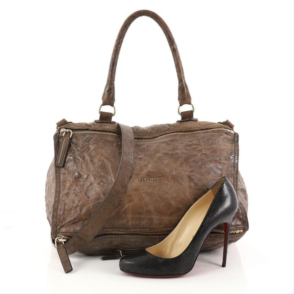 ef41e30f51 Givenchy Pandora Distressed Medium Brown Leather Shoulder Bag - Tradesy