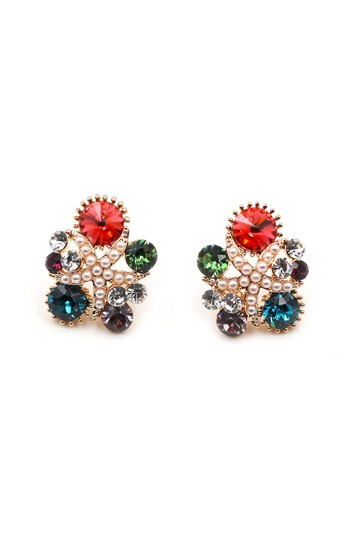 Preload https://img-static.tradesy.com/item/23104764/red-crystal-small-pearl-earrings-0-0-540-540.jpg