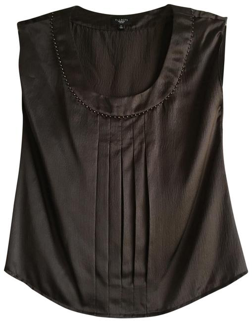 Preload https://img-static.tradesy.com/item/23104784/talbots-brown-silk-beaded-studded-pleated-embellished-cami-blouse-size-petite-2-xs-0-1-650-650.jpg
