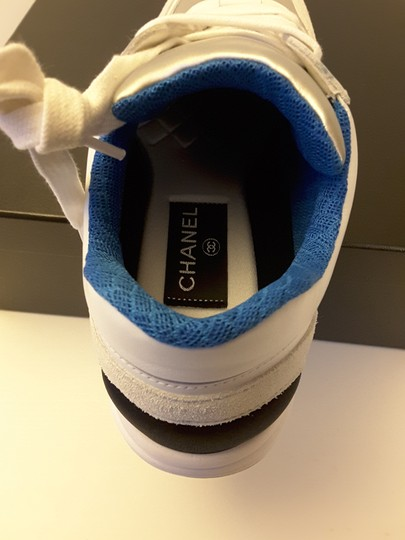 Chanel Sneakers Silver Blue white Athletic