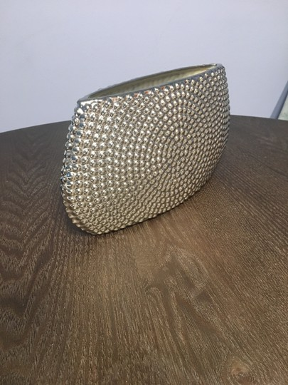 Restoration Hardware Silver Ceramic Vase Decoration