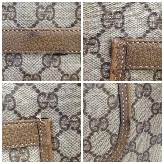 Gucci Sherry Shelly Web Supreme Soho Tote in Brown