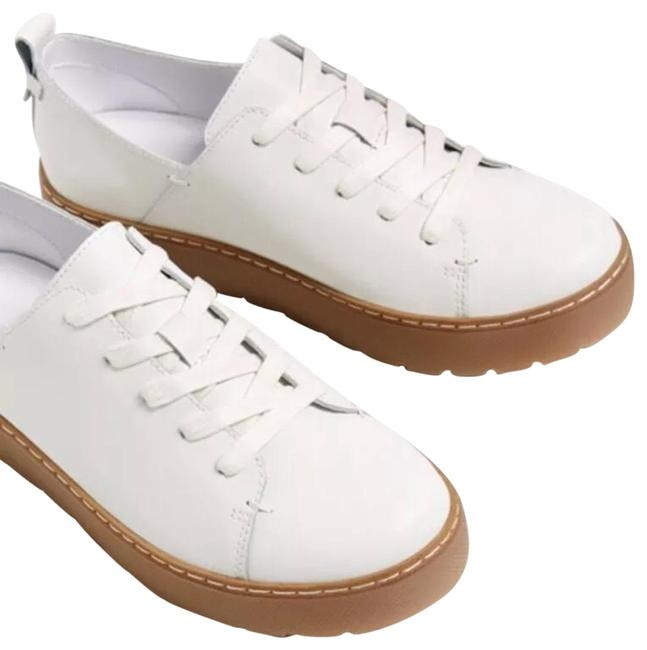 Item - White Leather Sneakers Flats Size US 8 Regular (M, B)