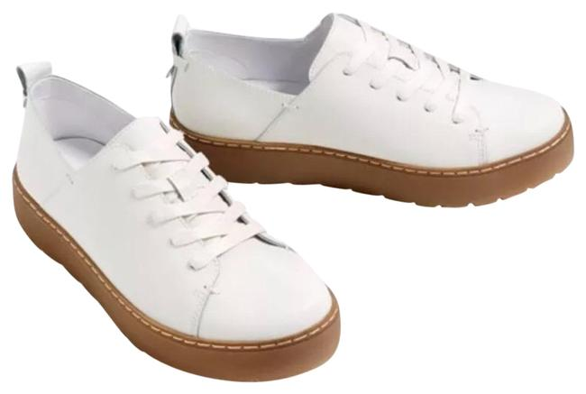 Item - White Leather Sneakers Flats Size US 5 Regular (M, B)