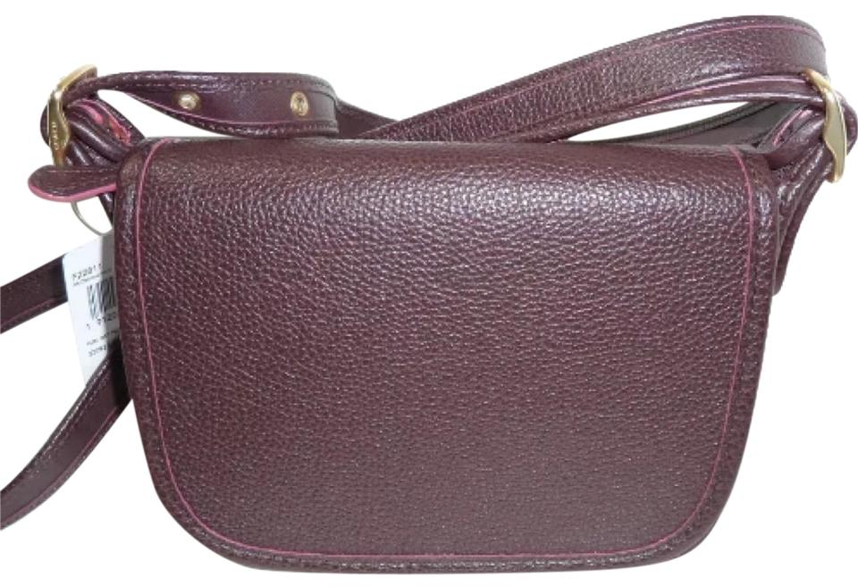 5eb2647176 Coach Primrose Patricia Saddle F22811 with Floral Gasset Oxblood Multi  Smooth Leather Messenger Bag