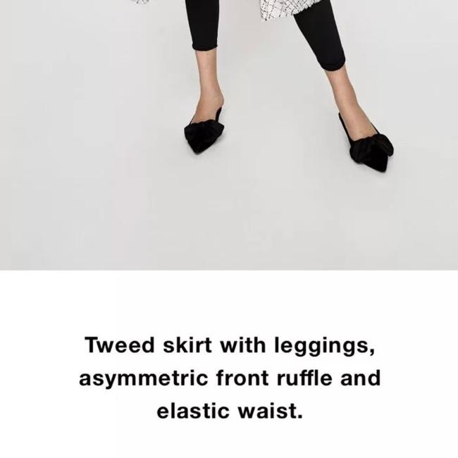 Zara white black Leggings