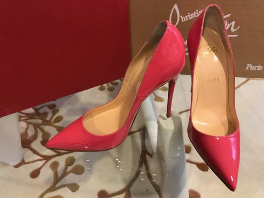 Christian Louboutin Patent Leather Pigalle Follies 120 Pink Pumps
