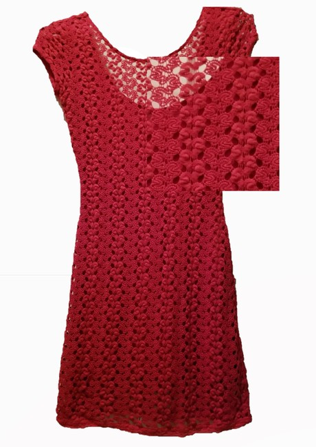 Free People Half Sleeve Fitted Knit See Through Open Back Dress