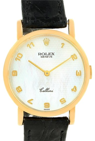 Preload https://img-static.tradesy.com/item/23105580/rolex-mother-of-pearl-cellini-classic-yellow-dial-ladies-watch-0-2-540-540.jpg