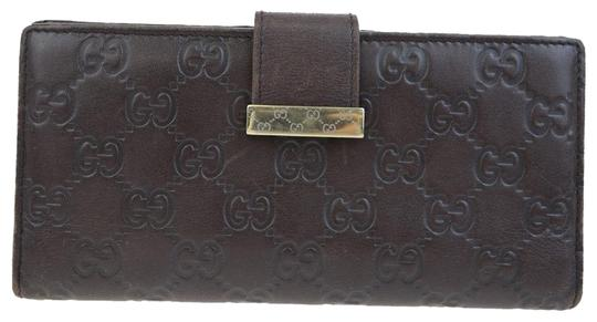 Preload https://img-static.tradesy.com/item/23105665/gucci-brown-gg-pattern-long-bifold-purse-leather-italy-wallet-0-2-540-540.jpg