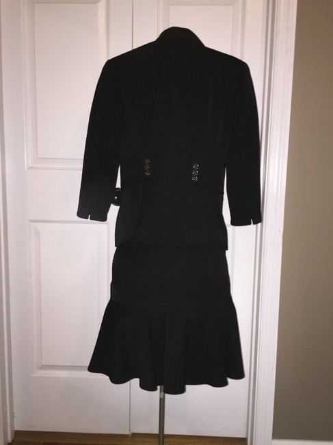 White House | Black Market Black Suit with Flare Skirt