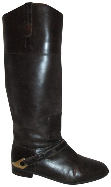 Item - Dark Brown Leather Riding Boots/Booties Size US 6.5 Regular (M, B)