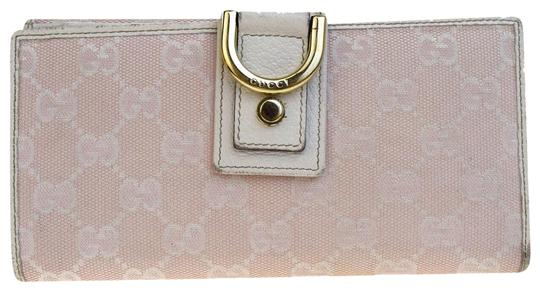 Preload https://img-static.tradesy.com/item/23105734/gucci-pink-gg-pattern-long-bifold-purse-canvas-leather-italy-wallet-0-2-540-540.jpg