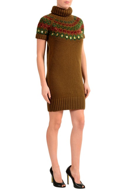 Dsquared2 short dress Brown on Tradesy