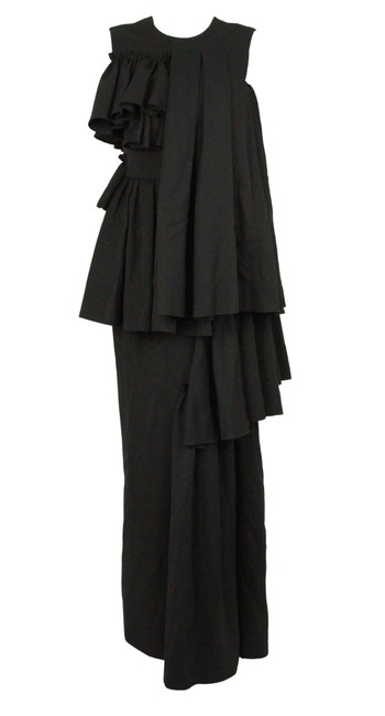 Item - Black Ruffle Long Casual Maxi Dress Size 6 (S)