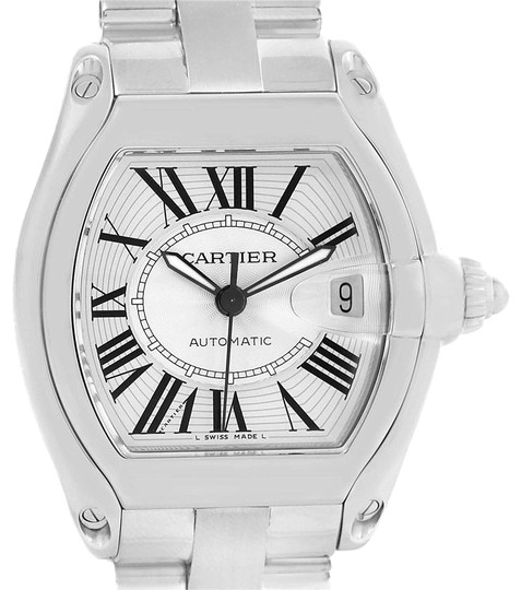 Preload https://img-static.tradesy.com/item/23105784/cartier-silver-roadster-large-roman-dial-steel-mens-w62025v3-watch-0-2-540-540.jpg